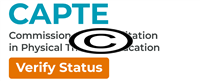 Accredited by CAPTE verify status links to verification website